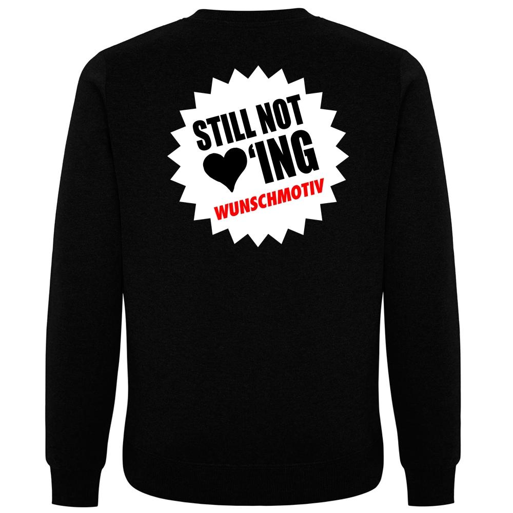 STILL NOT LOVING WUNSCHMOTIV Pullover schwarz