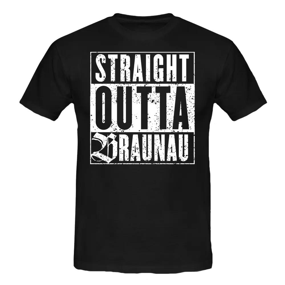 STRAIGHT OUTTA BRAUNAU T-Shirt schwarz