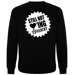 STILL NOT LOVING ANARCHY Pullover schwarz