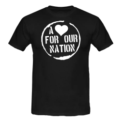 A <3 for our Nation-Shirt schwarz T-Shirt