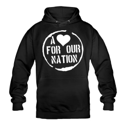 A <3 for our Nation-Shirt schwarz Hoody
