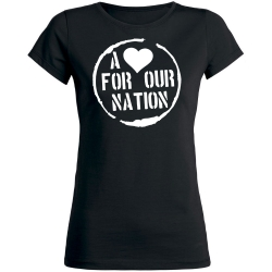 A <3 for our Nation-Shirt schwarz Girly