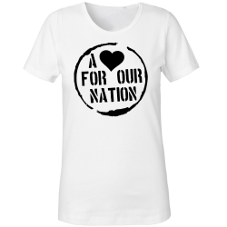 A <3 for our Nation-Shirt schwarz Girly  weiß