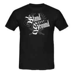 STAND YOUR GROUND T-Shirt schwarz