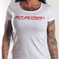 T-Shirt Antagonist weiß Girly